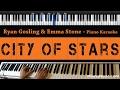 Download Lagu Ryan Gosling & Emma Stone - City Of Stars - Piano Karaoke / Sing Along / Cover With