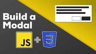 Vanilla JavaScript Modal - With CSS display