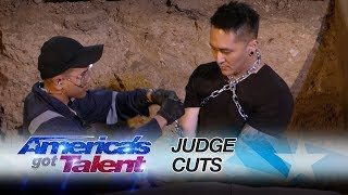 Demian Aditya: Escape Artist Attempts Deadly Performance - America's Got Talent 2017