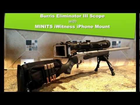 Burris Eliminator III Laser Scope with MINITS iWitness iPhone Adapter
