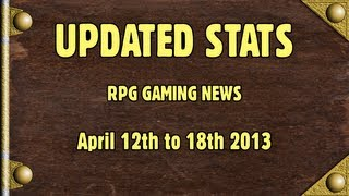 [Updated Stats] 12th to 18th April - RPG Gaming News