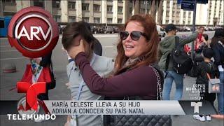 María Celeste y su hijo Adrián ya están en Rusia   Al Rojo Vivo   Telemundo