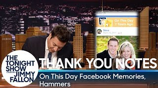 Thank You Notes: On This Day Facebook Memories, Hammers