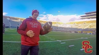 USC FOOTBALL vs Notre Dame Football - THE DAY BEFORE - FILMED BY PLAYER!!