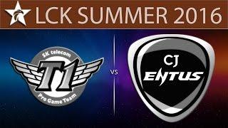 [LoL VODs] SKT vs CJ Game 2 | LCK Summer 2016 (02.06.2016) - SK Telecom T1 vs CJ Entus