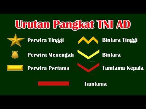 Urutan Pangkat Tentara Nasional Indonesia Angkatan Darat TNI AD