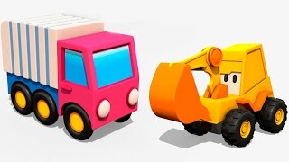 Excavator Max and a Garbage truck. Car cartoon & truck cartoon. Excavator Max Surprise eggs.