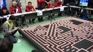 2014 Japn half-size micromouse contest, champion Kojima san