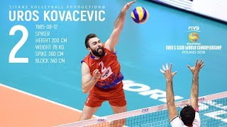 Uros Kovacevic | The Best Left Handed Volleyball Player | FIVB Mens WCH 2018
