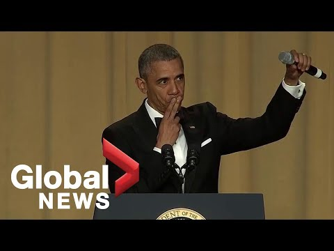 Obama out President Barack Obama s hilarious final White House correspondents dinner speech