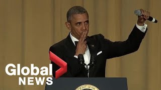 Obama out: President Barack Obama's hilarious final White House correspondents' dinner speech