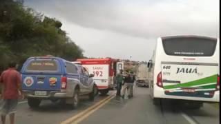 Grave acidente na BR-101 em Sapeaçu - Ba