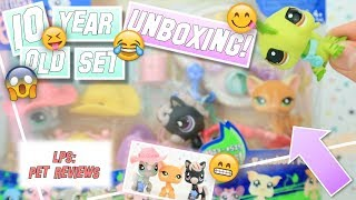 LPS: 10 YEAR OLD SET UNBOXING + REVIEW! - Raceabout Ranch (Shorthair #525 & More!)