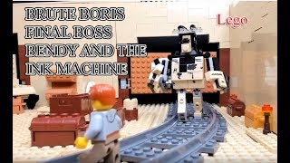 Lego  Bendy and the Ink Machine Chapter 4 Final Boss + Ending Brute Boris Battle 4   LEGO Animation