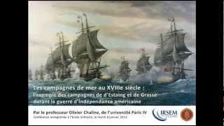 Les campagnes de mer au XVIIIe siècle, par le professeur Olivier CHALINE