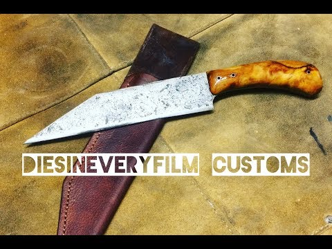 Knife making - saw blade viking seax