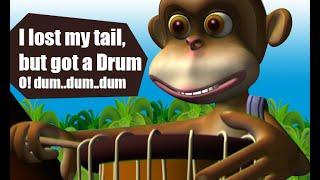 Manchadi malayalam cartoon story | The monkey who got the Drum