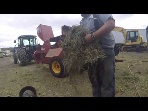 Pressure cleaning Hay equipment for winter storage.
