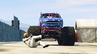 RUN FROM THE MONSTER TRUCK! (GTA 5 Funny Moments)