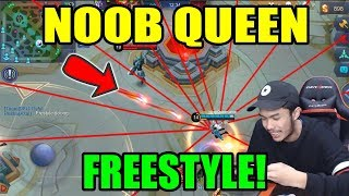 Fanny Noob Queen Freestyle Di Base Musuh!! - Mobile Legends Indonesia