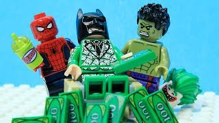 Lego Batman - Full of Money - Superheroes Real Life - Cartoon Animation