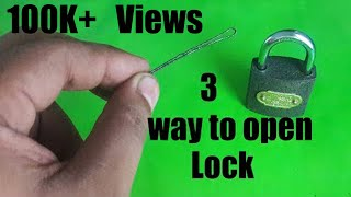 How To Open Lock Without Key3 Awesome lock Life Hacks With Tester