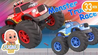 Kids Video about race cars and sport car racing | Car racing in los angeles city Surprise eggs