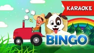 BINGO Karaoke Dog Songs For Children with Karaoke | Bingo lyrics Kids songs
