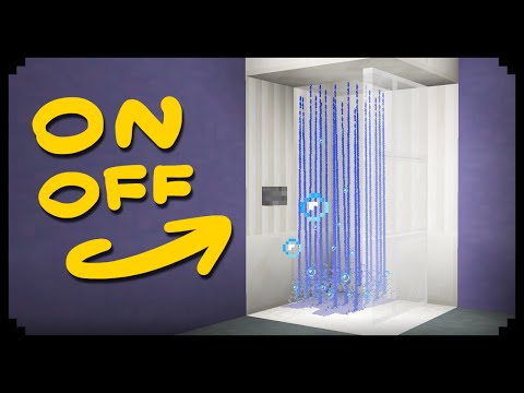 ✔ Minecraft How to make a Working Shower