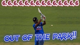Dhoni vs Pakistan : 6,6,6,6,6,6,6,6,6,6,6,6,6,6 - 14 Epic Sixes | MONSTER HITS OUT OF THE PARK!!