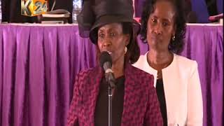 Late Dr. Wahome Gakuru's wife paying him tribute