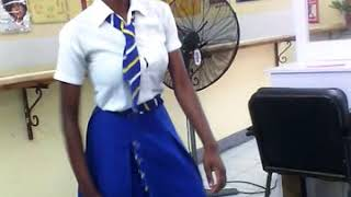 Papine high school girl doing fling for the first time.