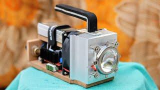 How To Make 100W LED Flashlight - DIY: Super Bright Light