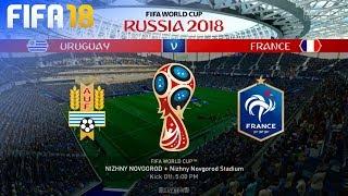 FIFA 18 World Cup - Uruguay vs. France @ Nizhny Novgorod Stadium