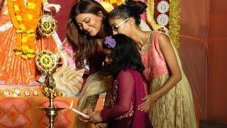 Sushmita Sen celebrates Durga Puja with daughters | Full Video