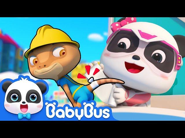 Emergency! Rope is almost Falling down   Super Panda Rescue Team Comlilation   BabyBus Cartoon