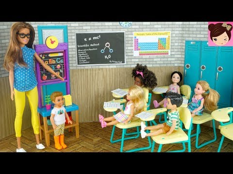 Xxx Mp4 Barbie Chelsea Stands Up For The New Kid In Class Barbie Teacher Classroom Playset 3gp Sex