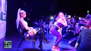 Bhad Bhabie aka Danielle Bregoli Performing with Pia Mia at the ROXY in Hollywood