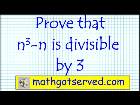 prove induction n^3- n is divisible by 3  for all positive integer mathematical precalculus discrete