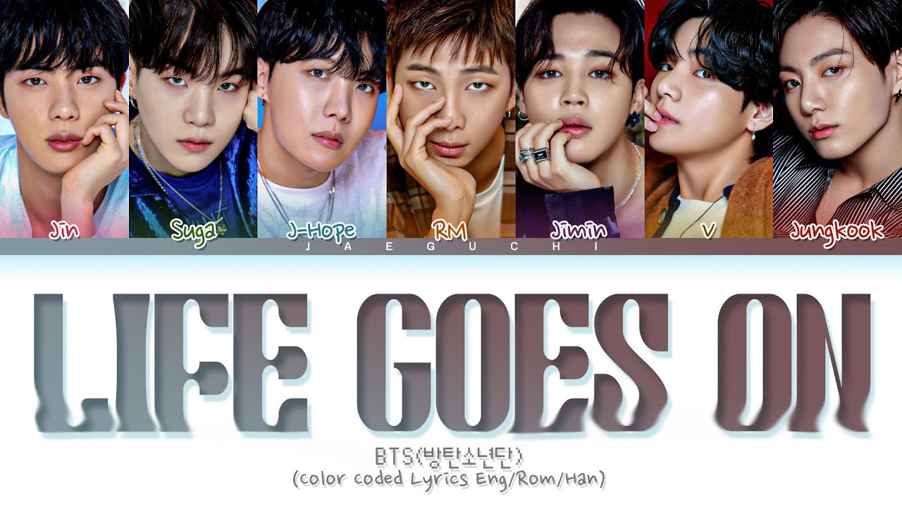 BTS Life Goes On  (Color Coded Lyrics)