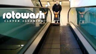 Cleaning Escalators Travelator Maintenance - Rotowash