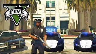 GTA 5 PC MOD - JUGAR DE POLICIA! GTA 5 POLICIA PATRULLA CUIDANDO LOS SANTOS| GTA V POLICE MOD