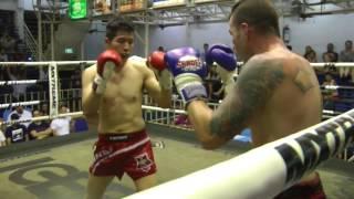 Lee Namgyu from Korea (Red corner- Sinbi Muay Thai) fights at Bangla Stadium- 6/8/2017
