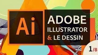 Adobe Illustrator - Apprendre à dessiner (1/8) - La plume