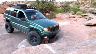 Jeep WJ's on the MOAB Rim Trail