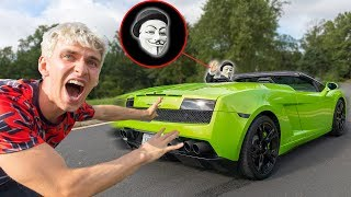 CAUGHT GAME MASTER STEALING THE LAMBORGHINI SHARERGHINI with TOP SECRET SPY GADGETS!!