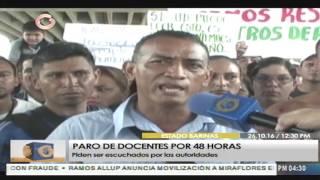 Docentes en Barinas convocaron paro de 48 horas