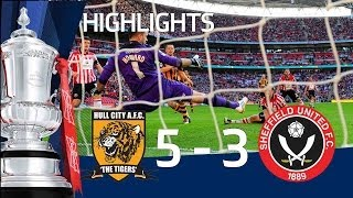 HULL CITY VS SHEFFIELD UNITED 5-3: Goals and highlights FA Cup Semi Final HD