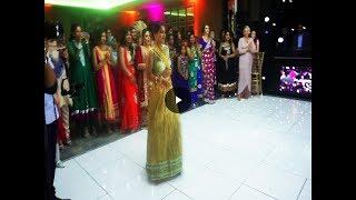 Girl rocks the dance floor! Best Punjabi Sikh Wedding Dance Off Ever | 2017