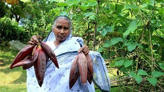 Cooking Fresh and Natural Banana Flower recipe by our Granny   Grandma's Delicious Recipes